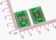 Переходник / адаптер для микросхем с корпусами SOP16 SSOP16 TSSOP16 (0.65/1.27мм) в DIP 2.54мм (двусторонняя плата)