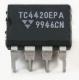 TC4420CPA Высокоскоростной неинвертирующий драйвер MOSFET DIP8 20B 6A