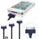 Кабель USB для Apple iPhone 4, 4S, 3, 3S, 3GS, iPad, iPad 2, iPad 3, (30pin) 1м с оплеткой из плетеной ткани