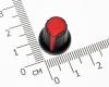 Ручка из пластика красная (одноместные, двухместные потенциометры, высокое качество)