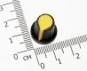Ручка из пластика желтая (одноместные, двухместные потенциометры, высокое качество)