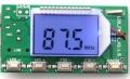 Цифровой беспроводной стерео радиомикрофон FM 87 - 108 мГц 100 мВт с  DSP, PLL и ЖК-экраном