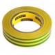Изолента ПВХ 0.15 × 15 мм длина 10м желто-зеленая особо прочная, напряжение пробоя 6000В