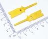 Щуп, зажим пружинный цанговый для захвата, желтый, 50мм