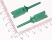 Щуп, зажим пружинный цанговыйм для захвата, зеленый, 50мм
