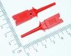 Щуп, зажим пружинный цанговый для захвата, красный, 50мм