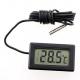 Цифровой LCD термометр -50 +110 °С (черный)