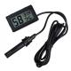 Цифровой LCD гигрометр - термометр 10%RH ~ 99%RH, -50°C + 70°С (черный, внешний датчик)