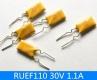 Предохранитель самовосстанавливающийся 1.1А 30В RUEF110 PPTC 14.2*5.8 мм