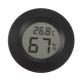 Цифровой LCD гигрометр - термометр 20%RH ~ 95%RH, -50°C + 70°С (черный круглый)