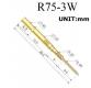 Пружинный контакт-зонд R75-3W, (26.4мм, диаметр 1,55мм, давление пружины 100г, мама)