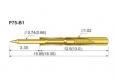 Пружинный контакт-зонд P75-B1, (15.85мм, диаметр 1.02мм, давление пружины 100г)