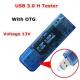 Электронный портативный OLED USB-microUSB-OTG-тестер (напряжение, ток, мощность, емкость) USB3.0, 4 разряда, QC2.0