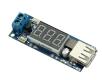 DC-DC фиксированный преобразователь, вход 4.5В - 40В, выход 5В, ток 2А, 1 USB, с индикатором входного напряжения