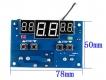 Цифровой безкорпусной 12В регулятор температуры W1401 с NTC термопарой, -10 ~ +100°C, 12В, ток управления 10A