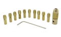 Набор цанговых патронов для дрели, сверло от 0,5 до 3.2 мм, 12 предметов, вал 2.3 мм