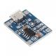 Зарядное устройство для литиевых и литиево-полимерных батарей TP4056 1A, напряжение полной зарядки 4.2В, вход Micro USB 4.5 - 5.5В