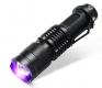 Ультрафиолетовый мощный фонарик LED CREE Q5 395-400 нм с изменяемым фокусом, 3 режима