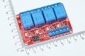 Модуль реле 4-х канальный для Arduino (с оптронной изоляцией 12В, (hight and low level trigger, реле TONGLING)