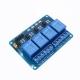 Модуль реле 4-канальный для Arduino (с оптронной изоляцией 5В, low level trigger, реле TONGLING)