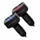 Двойной интеллектуальный USB-адаптер от прикуривателя 2 х 5В 3.1А с вольтметром, амперметром и термометром °C, красный дисплей