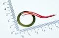 Пьезокерамический излучатель диаметром 27мм, 6кГц, провод ~50мм