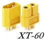 Разъем питания XT60 (комплект 2шт, мама + папа) для RC LiPo аккумуляторов, квадрокоптеров, мультикоптеров