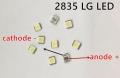 Светодиод SMD 2835 LG LATWT470RELZK белый 110-140 Лм, 7000-10000 К, 3.0-3.6 В, 400-650 мА, 1.46 Вт