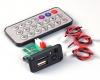 Встраиваемый микро медиацентр MP3, WAV, microSD card, USB, пульт ДУ 3.7-5B, встроенный усилитель 2*3W