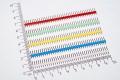 PLS-40 вилка штыревая 2.54мм 1х40 прямая, цветная (белый, желтый, синий, зеленый, красный)