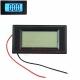 Электронный встраиваемый вольтметр LCD 3.5В-30В (синяя подсветка, 3 разряда) 79х43х15мм 2 провода