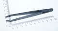 Пинцет 93301 ESD, черный, антистатический пинцет из пластмассы, 11,5 см