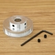 Шкив (ролик) 60-GT2-6 BF алюминиевый для GT2-ленты шириной 6мм, 60 зубьев, на вал 5мм