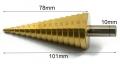 Сверло ступенчатое 4-32мм, шаг 2мм сталь HSS, с шестигранным хвостовиком