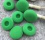 Поролоновые амбушюры для наушников 16-18мм зеленые (пара)
