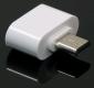 Переходник USB OTG (мама) - microUSB белый