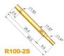 Контакт-зонд R100-2S, (30.0мм, диаметр хвостовика 1.67мм, глубина 25мм)