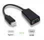 Переходник - конвертер USB Type C в HDMI, поддержка Full HD 1080P, 20см