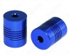 Гибкая соединительная муфта 5*8*25мм, алюминий, диаметр 19мм, на вал 5мм / 8мм, синяя