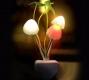 Светильник Грибочки - ночник светодиодный с датчиком освещенности, 110-220В RGB