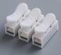 Соединитель медных жил 3-х контактный зажимной, для безвинтового соединения проводов 0,5-2,5 мм