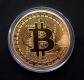 Монета сувенирная Bitcoin в коробочке, диаметр 40мм, цвет золотой.