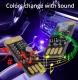 Миниатюрный USB RGB светильник с сенсорным управлением и микрофоном для эффекта цветомузыки, 5В, RGB светодиод 5050