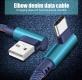 Кабель USB Type C - USB 1м угловой, ток 2А, повышенная прочность, отделка джинсовая ткань