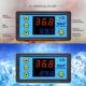 Цифровой контроллер температуры с термопарой, W3231, -55°С ~ +120°C, 110-220В, ток управления 10A, красный + синий дисплей