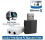 Bluetooth приемник - передатчик ZF169PLUS v5.0 3-в-одном, USB, 3.5мм AUX вход и выход