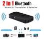 Bluetooth приемник - передатчик v4.2 2-в-одном, 3.5мм AUX вход и выход, поддержка aptX, A2DP, AVRCP, встроенный аккумулятор