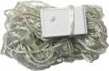 Новогодняя гирлянда светодиодная линейная LED-E54 (54 светодиодов 5мм прозрачный белый теплый цвет 8 режимов), длина 6,3 метра, прозрачный провод, 220В
