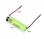 Аккумулятор NCR18650B (Panasonic) 3400mAh 3.7В 10.96Wh максимальный ток 5А с приваренными контактами, круглые провода