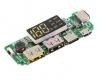 Модуль для Power Bank зарядное устройство с двойным USB 5В 2*2.4A с LED-индикацией, вход Micro/Type-C/Lightning USB 3.0-4.2В